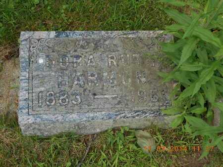 HARMON, DORA RUTH - Calhoun County, Michigan | DORA RUTH HARMON - Michigan Gravestone Photos
