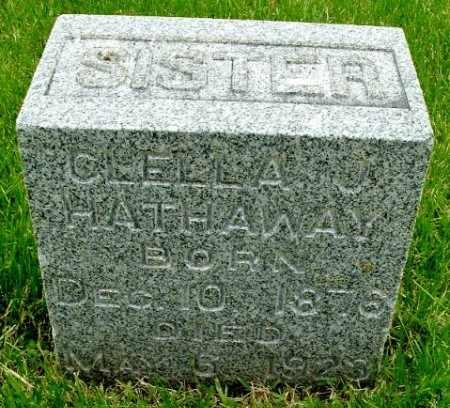 HATHAWAY, CLELLA J - Calhoun County, Michigan   CLELLA J HATHAWAY - Michigan Gravestone Photos