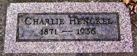 HENCKEL, CHARLIE - Calhoun County, Michigan | CHARLIE HENCKEL - Michigan Gravestone Photos