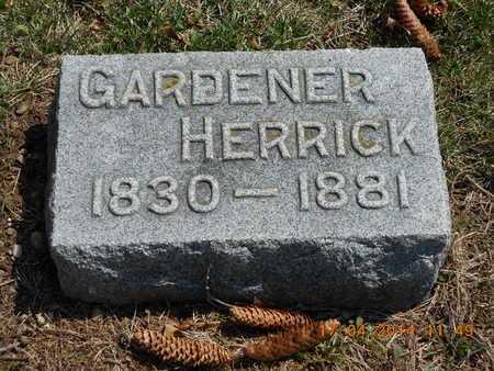 HERRICK, GARDENER - Calhoun County, Michigan   GARDENER HERRICK - Michigan Gravestone Photos