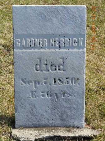 HERRICK, GARDNER - Calhoun County, Michigan   GARDNER HERRICK - Michigan Gravestone Photos