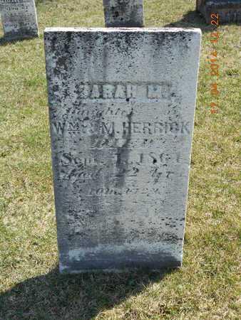 HERRICK, SARAH M. - Calhoun County, Michigan | SARAH M. HERRICK - Michigan Gravestone Photos
