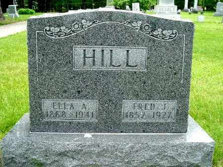 HILL, ELLA - Calhoun County, Michigan | ELLA HILL - Michigan Gravestone Photos