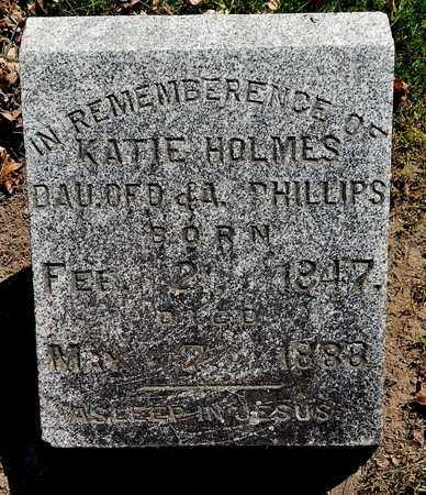 HOLMES, KATIE - Calhoun County, Michigan | KATIE HOLMES - Michigan Gravestone Photos