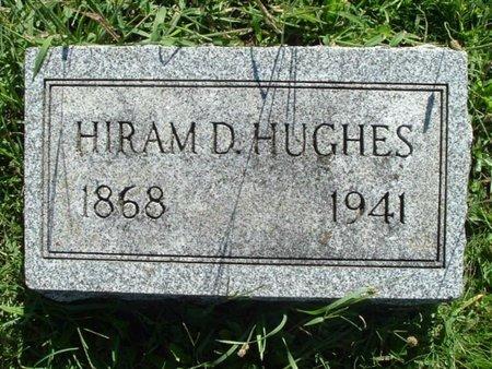 HUGHES, HIRAM D. - Calhoun County, Michigan   HIRAM D. HUGHES - Michigan Gravestone Photos
