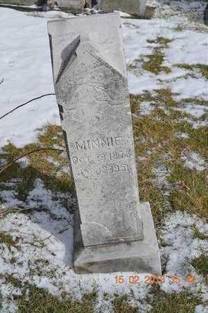 HUGHES, MINNIE - Calhoun County, Michigan | MINNIE HUGHES - Michigan Gravestone Photos