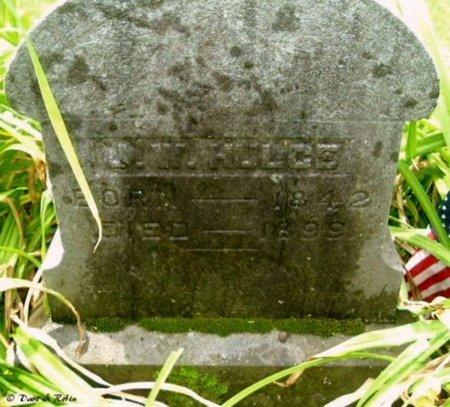 HULCE, JOHN W - Calhoun County, Michigan | JOHN W HULCE - Michigan Gravestone Photos