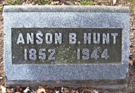 HUNT, ANSON B - Calhoun County, Michigan | ANSON B HUNT - Michigan Gravestone Photos