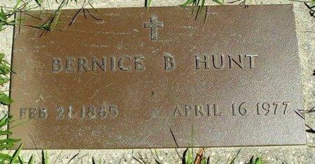 HUNT, BERNICE B. - Calhoun County, Michigan   BERNICE B. HUNT - Michigan Gravestone Photos