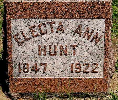 HUNT, ELECTA ANN - Calhoun County, Michigan | ELECTA ANN HUNT - Michigan Gravestone Photos
