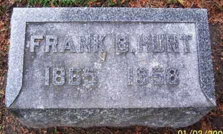 HUNT, FRANK B - Calhoun County, Michigan   FRANK B HUNT - Michigan Gravestone Photos