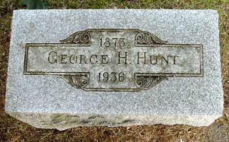 HUNT, GEORGE H - Calhoun County, Michigan   GEORGE H HUNT - Michigan Gravestone Photos
