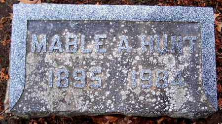 HUNT, MABLE A - Calhoun County, Michigan | MABLE A HUNT - Michigan Gravestone Photos