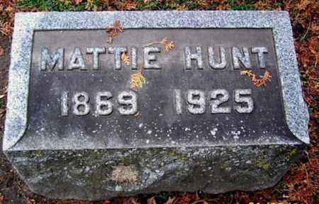 HUNT, MATTIE - Calhoun County, Michigan | MATTIE HUNT - Michigan Gravestone Photos