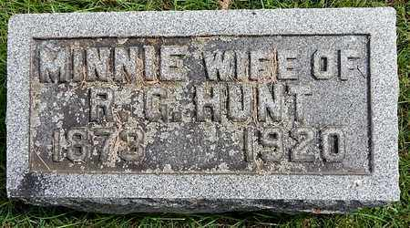 HUNT, MINNIE - Calhoun County, Michigan | MINNIE HUNT - Michigan Gravestone Photos