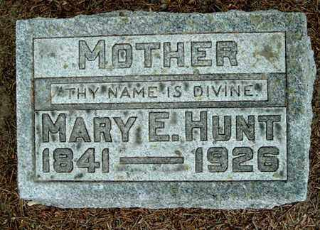HUNT, MARY E - Calhoun County, Michigan | MARY E HUNT - Michigan Gravestone Photos