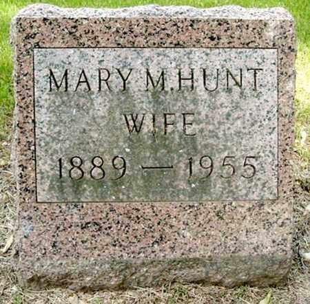 HUNT, MARY M - Calhoun County, Michigan   MARY M HUNT - Michigan Gravestone Photos