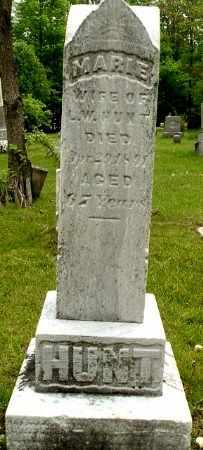 HUNT, MARIE - Calhoun County, Michigan   MARIE HUNT - Michigan Gravestone Photos