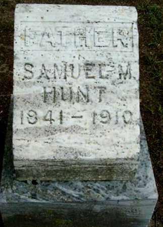 HUNT, SAMUEL M - Calhoun County, Michigan | SAMUEL M HUNT - Michigan Gravestone Photos