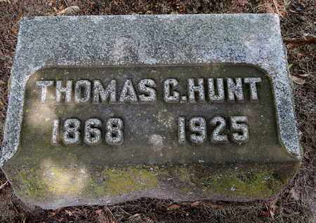 HUNT, THOMAS C - Calhoun County, Michigan | THOMAS C HUNT - Michigan Gravestone Photos