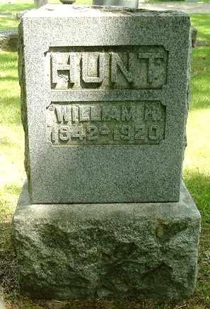 HUNT, WILLIAM H - Calhoun County, Michigan | WILLIAM H HUNT - Michigan Gravestone Photos