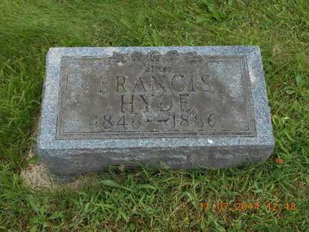 HYDE, FRANCIS - Calhoun County, Michigan | FRANCIS HYDE - Michigan Gravestone Photos