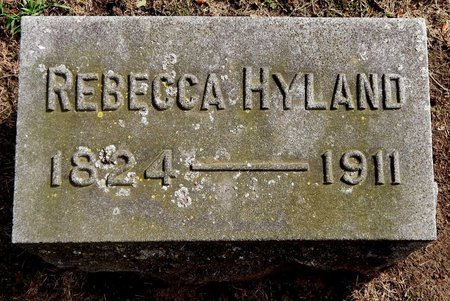 HYLAND, REBECCA - Calhoun County, Michigan   REBECCA HYLAND - Michigan Gravestone Photos