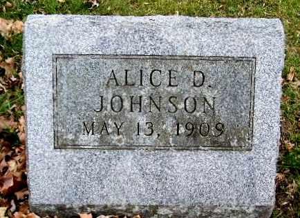 JOHNSON, ALICE D - Calhoun County, Michigan | ALICE D JOHNSON - Michigan Gravestone Photos