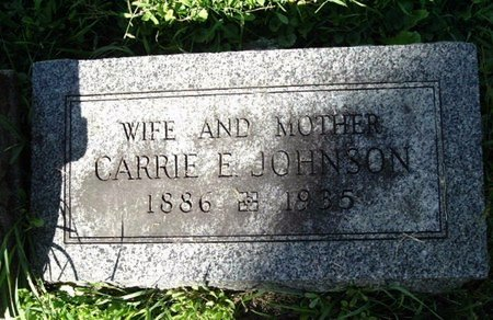 JOHNSON, CARRIE E. - Calhoun County, Michigan   CARRIE E. JOHNSON - Michigan Gravestone Photos