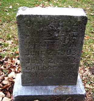 JOHNSON, INFANT SON - Calhoun County, Michigan | INFANT SON JOHNSON - Michigan Gravestone Photos