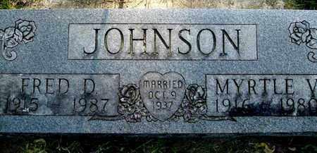 JOHNSON, MYRTLE V - Calhoun County, Michigan | MYRTLE V JOHNSON - Michigan Gravestone Photos