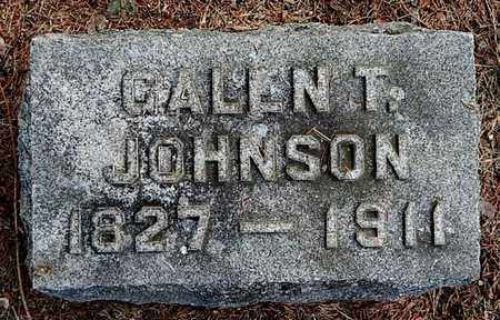 JOHNSON, GALEN T - Calhoun County, Michigan | GALEN T JOHNSON - Michigan Gravestone Photos