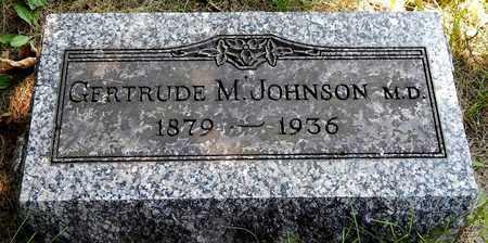 JOHNSON, GERTRUDE M - Calhoun County, Michigan | GERTRUDE M JOHNSON - Michigan Gravestone Photos
