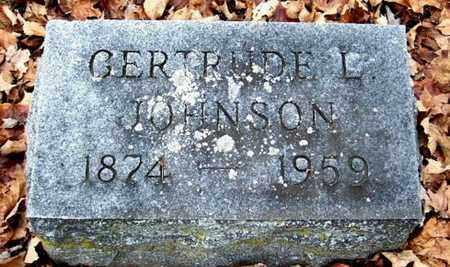 JOHNSON, GERTRUDE L - Calhoun County, Michigan   GERTRUDE L JOHNSON - Michigan Gravestone Photos
