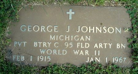 JOHNSON, GEORGE J - Calhoun County, Michigan | GEORGE J JOHNSON - Michigan Gravestone Photos