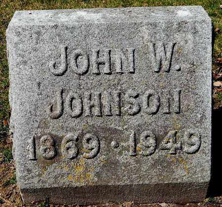 JOHNSON, JOHN W - Calhoun County, Michigan | JOHN W JOHNSON - Michigan Gravestone Photos