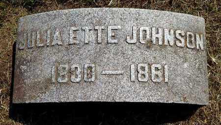 JOHNSON, JULIA ETTE - Calhoun County, Michigan | JULIA ETTE JOHNSON - Michigan Gravestone Photos