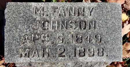 JOHNSON, M. FANNY - Calhoun County, Michigan | M. FANNY JOHNSON - Michigan Gravestone Photos