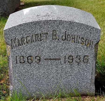 JOHNSON, MARGARET B - Calhoun County, Michigan | MARGARET B JOHNSON - Michigan Gravestone Photos