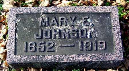 JOHNSON, MARY E - Calhoun County, Michigan   MARY E JOHNSON - Michigan Gravestone Photos