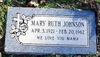 JOHNSON, MARY RUTH - Calhoun County, Michigan | MARY RUTH JOHNSON - Michigan Gravestone Photos
