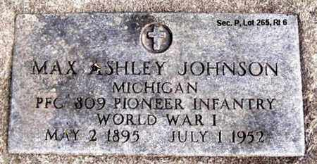 JOHNSON, MAX ASHLEY - Calhoun County, Michigan | MAX ASHLEY JOHNSON - Michigan Gravestone Photos