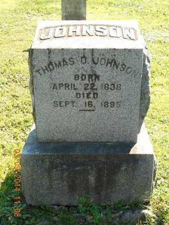 JOHNSON, THOMAS D. - Calhoun County, Michigan | THOMAS D. JOHNSON - Michigan Gravestone Photos