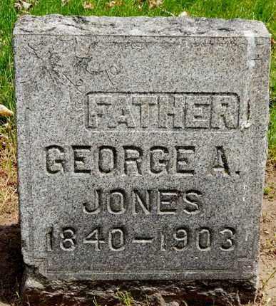 JONES, GEORGE A - Calhoun County, Michigan | GEORGE A JONES - Michigan Gravestone Photos