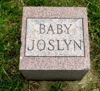 JOSLYN, BABY - Calhoun County, Michigan | BABY JOSLYN - Michigan Gravestone Photos