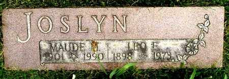 JOSLYN, LEO E - Calhoun County, Michigan | LEO E JOSLYN - Michigan Gravestone Photos