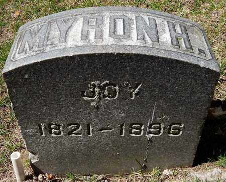 JOY, MYRON H - Calhoun County, Michigan | MYRON H JOY - Michigan Gravestone Photos