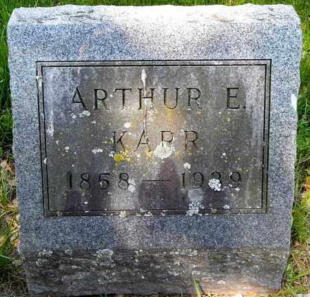 KARR, ARTHUR E - Calhoun County, Michigan | ARTHUR E KARR - Michigan Gravestone Photos