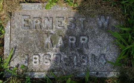 KARR, ERNEST W - Calhoun County, Michigan | ERNEST W KARR - Michigan Gravestone Photos