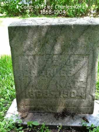KATZ, CORA - Calhoun County, Michigan | CORA KATZ - Michigan Gravestone Photos